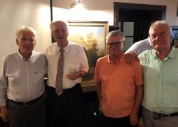 Ehrungen für langjährige Mitgliedschaft (v.ln.r.): Arnulf Stangelmayer sen, Dr. Aldo Fach, Wolfgang Asprion und Dieter Loy